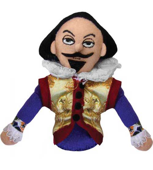 Shakespeare finger puppet