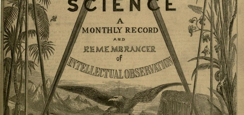 Cover of Recreative Science, 19th Century periodical