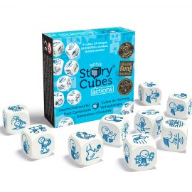 Rory's Story Cubes Action - sleeve and cubes