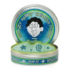 Crazy Aaron's Thinking Putty Foxfire in tin