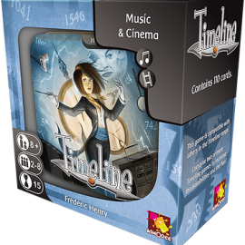 Timeline Music & Cinema card game boxed