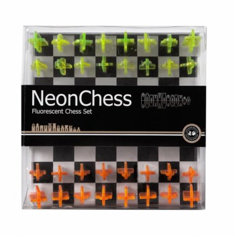 Neon chess set in box by Lagoon