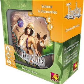 Timeline Science & Discoveries card game boxed