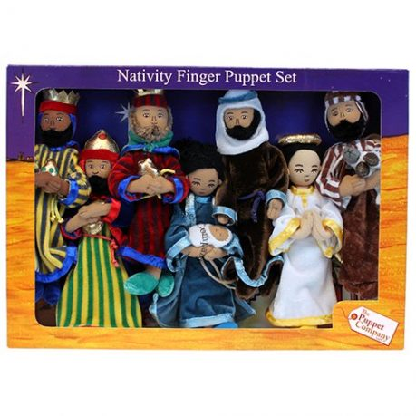 nativity set of finger puppets