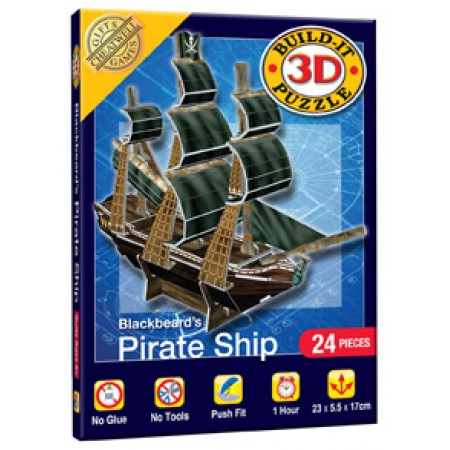 Mini 3D Pirate Ship in box