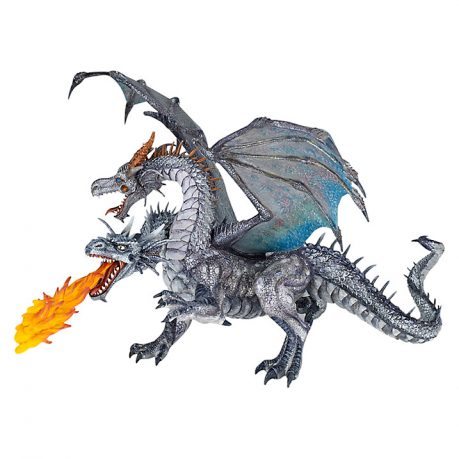 Papo Two-Headed Dragon, Silver
