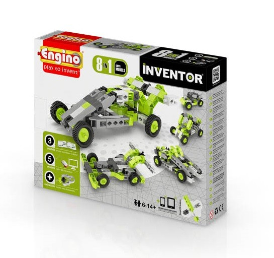 Engino 8 in 1 Inventor Car Model Kit
