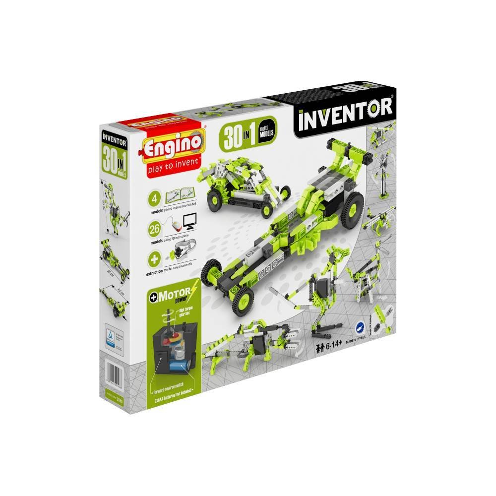 Engino 30 in 1 Inventor Motorised model kit