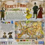 Ticket to Ride Europe Back of Box