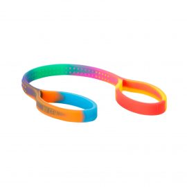 chewipal toy strap - rainbow coloured