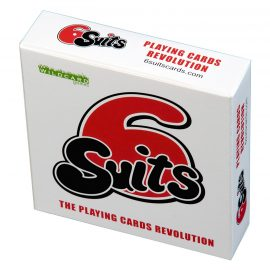 6 suits playing cards box