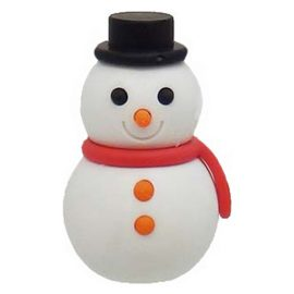 Iwako Japanese Puzzle Eraser Snowman red and black