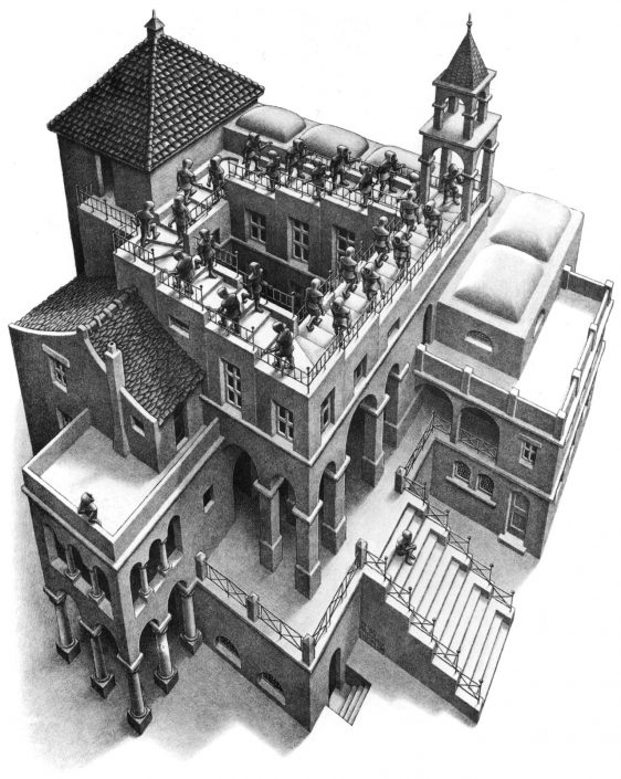 Ascending Descending by M.C.Escher