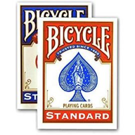 Bicycle playing card packs in red and blue