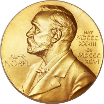 Image of Alfred Nobel on the Gold medal