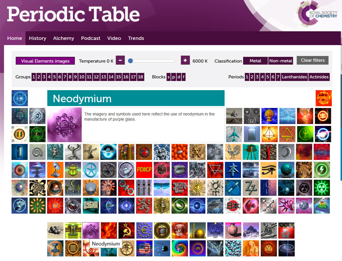 2017 advent calendar of fascinating websites day 4 periodic royal society of chemistrys periodic table with visual elements by murray robertson urtaz Images