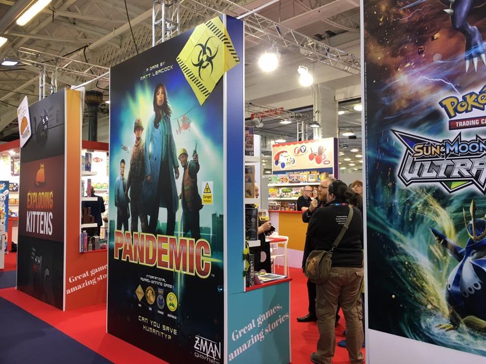 Games at the Asmodee Stand, London Toy Fair 2018