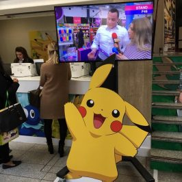Pikachu and the London Toy Fair TV