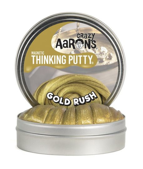 Crazy Aaron's Thinking Putty Gold Rush in Tin