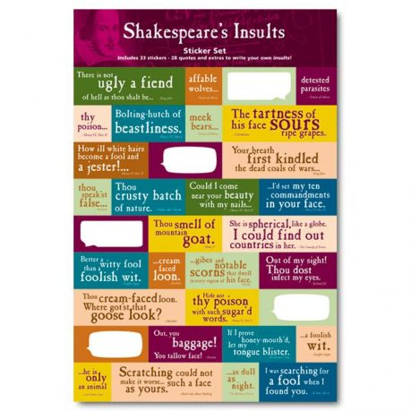 Shakespeare Insult Stickers