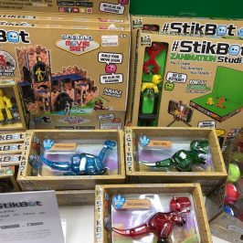 Stikbot castle and studio sets with Stikbot Mega Dinos