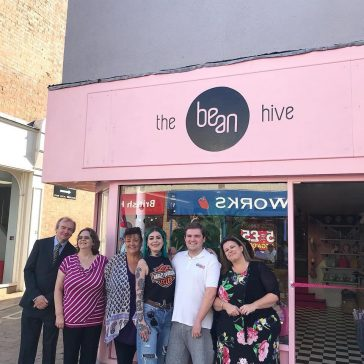 Opening Day at The Bean Hive - here we are with some of our fellow traders