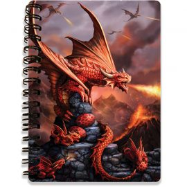 Anne Stokes Fire Dragon as a 3D notebook - Kidicraft