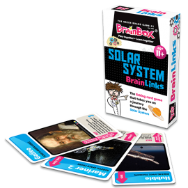 Brain Link Solar System Game - box and cards