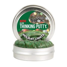 holiday lights thinking putty in a tin